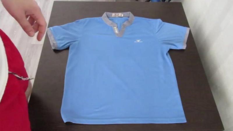 [Obzor na 1000] Как быстро сложить футболку. (how quickly fold shirt)