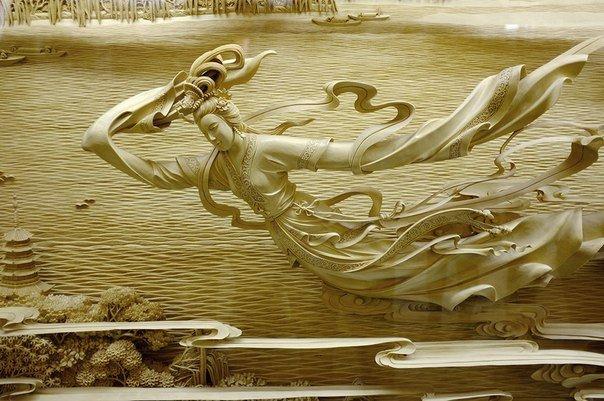 Китайская школа резьбы по дереву, изображение №6