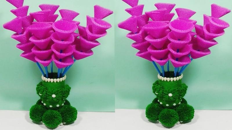 GULDASTA/Guldasta banane ki Vidhi/NEW DESIGN FOAM GULDASTA/WASTE PLASTIC BOTTEL GULDASTA/FOAM BOTTL