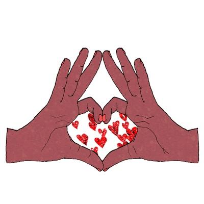 картинка сердце в ладошке анимация изнутри