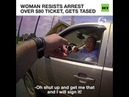 'I'm a country girl!': Old lady refuses to sign ticket, tries to escape resists arrest