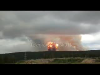 Мощный взрыв на военных складах в Каменке