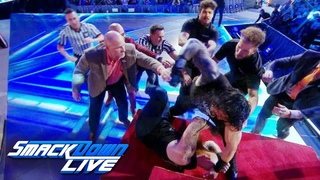 #My1 Unseen jib camera footage of Roman Reigns and Erick Rowans brawl: Exclusive, Sept. 13, 2019