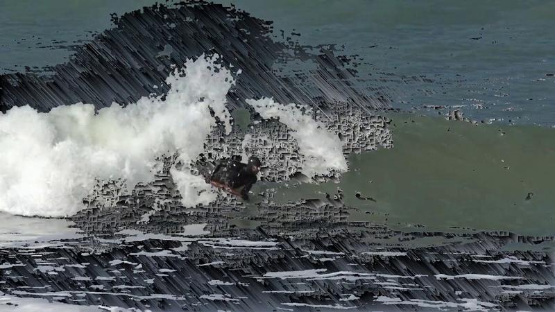 Pixel Surfing glitch art
