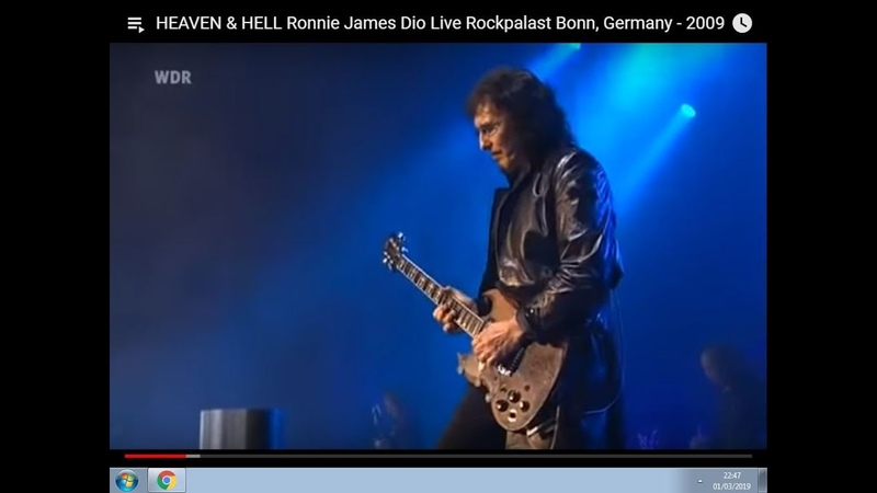 HEAVEN HELL Ronnie James Dio Live Rockpalast Bonn, Germany - 2009