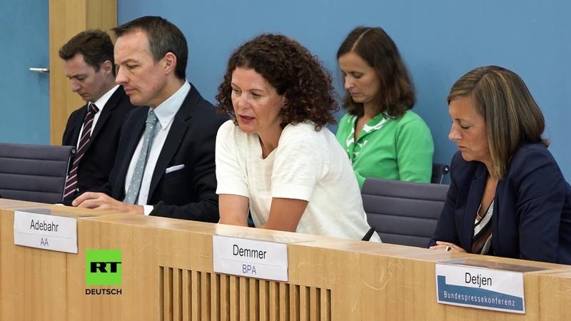 Regierungssprecher können nicht erklären wieso Moskaus Angebot zur Rettung von INF abgelehnt wurde