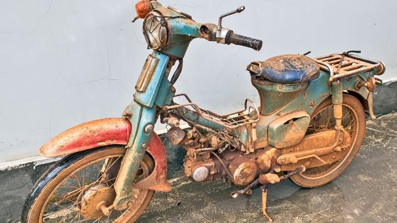 Honda Super Cub C50 Full Restoration Will It Run After 40 Years