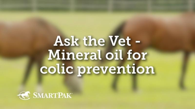 Минеральное масло для профилактики колик у лошадей / Mineral oil for colic prevention