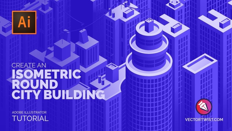 Create an Isometric Round City Building in Adobe Illustrator