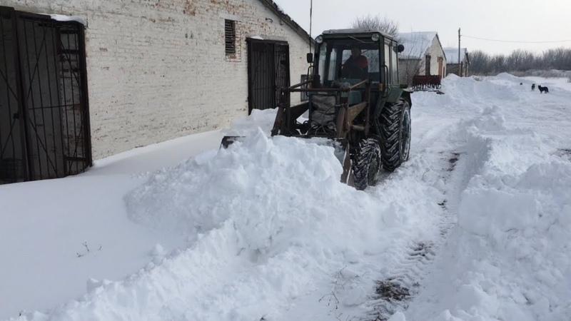 Зима 2019 | Расчистка снега МТЗ-82 ❄️