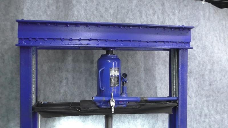 Como fazer uma prensa hidráulica usando um macaco automotivo 20 toneladas