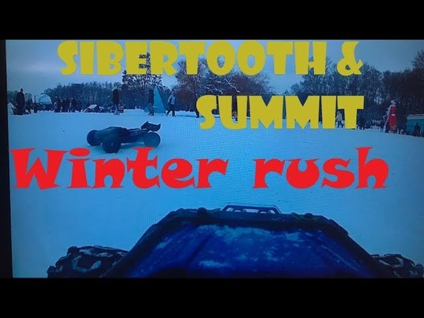 Traxxas Summit Basher Sabertooth Winter Bashing 1st person view camera