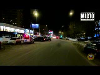 Обзор аварий. Пьяный, три автомобиля и столб в Нововятске. Место происшествия 16.01.2020