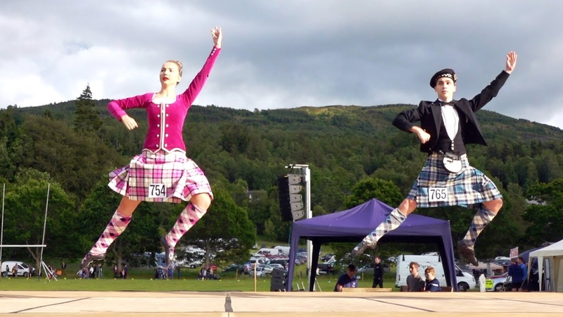 The Highland Fling Scottish traditional dance performed at Kenmore Highland Games July 2019