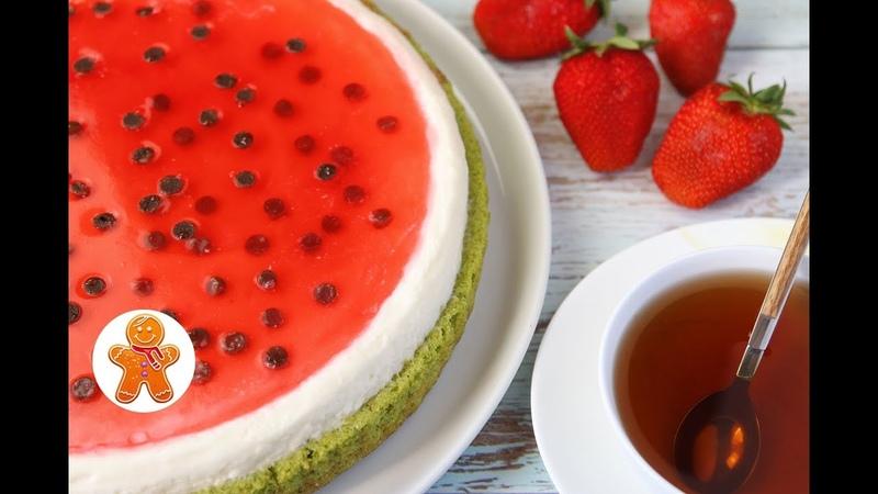 Торт Пирог Арбуз ✧ Watermelon Cake English Subtitles