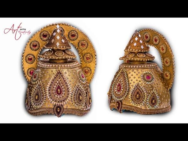 DIY How to make Mukut God crown tahia in odia kundan mukut Art with Creativity