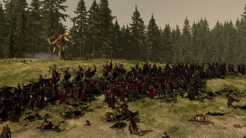 Dark Elves vs Wood Elves Total War WARHAMMER 2 Cinematic Battle тлт Ремонт компьютер ноутбук Тольятти tlt pc пк it красиво