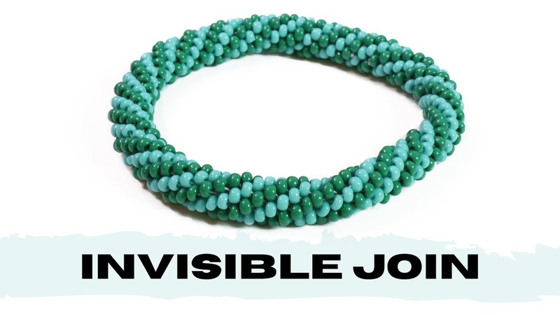 Invisible join in bead crochet Connect 2 bead crochet ropes Bead crochet tutorial