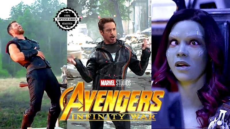 Avengers Infinity War Funny Behind The Scenes|Bloopers