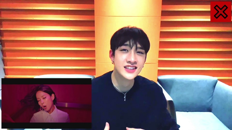 Stray kids Bang Chan reaction to 박진영 J Y Park FEVER Feat 수퍼비 BIBI M V