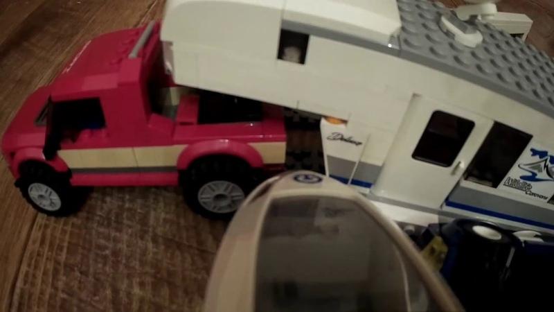 LEGO train hit a car