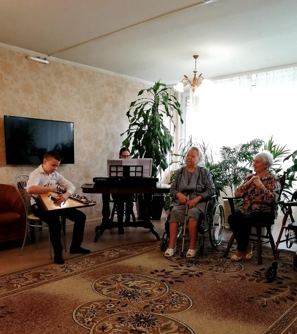 Рождественский концерт в Пансионате для ветеранов труда №1