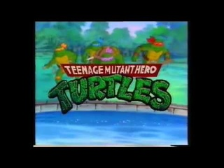Teenage mutant hero turtles intro opener (VHS Capture)