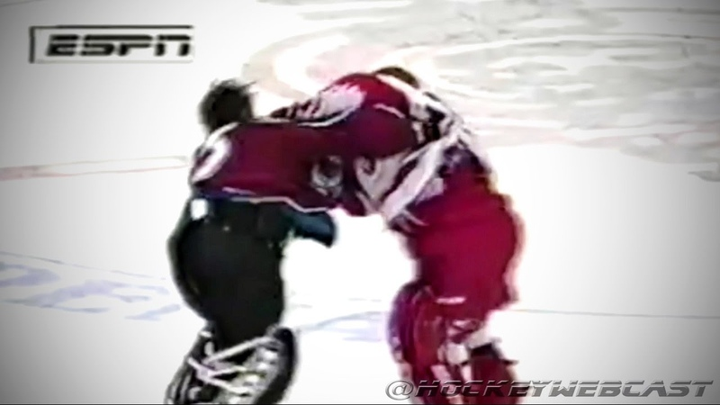 Colorado Avalanche vs Detroit Red Wings Brawl Roy vs Osgood April 1 1998 NHL Classic