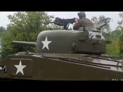 Panzer Tank Battle in the Rain and Mud. Реконструкция немецких товарищей!