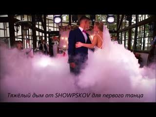 Световое оформление и тяжёлый дым от SHOWPSKOV в загородном отеле Плесков.