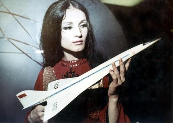 Узнали  София Ротару рекламирует самолет Ту144, 1975 год... Кому посчастливилось летать на таком