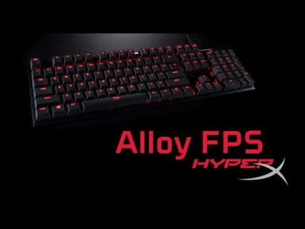 Новая клавиатура HyperX Alloy FPS (MX Cherry RED)
