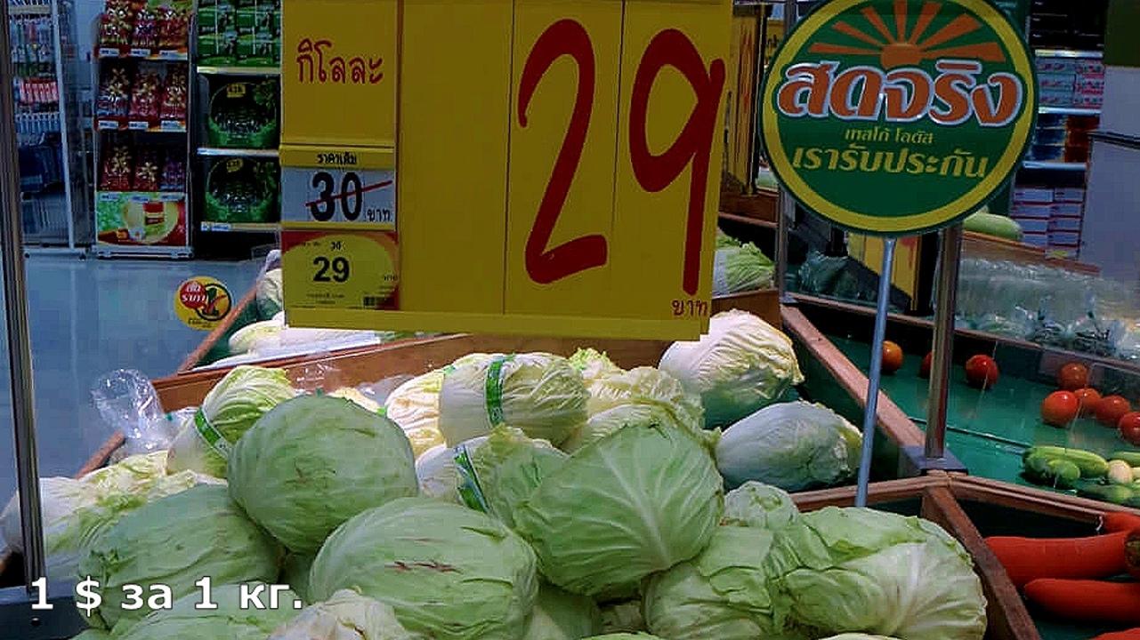 Цены на продукты и еду в Таиланде.  LhcC9WUHCTE