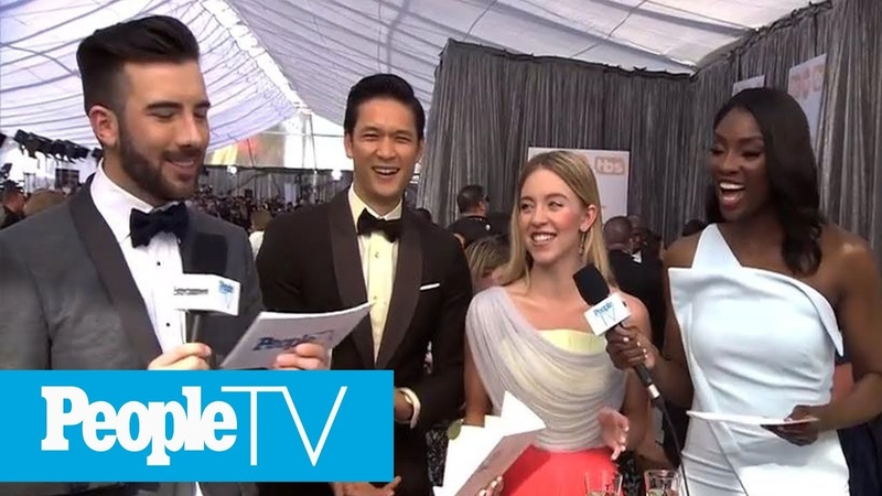 Harry Shum Jr. And Sydney Sweeney Present The Two Of The First SAG Awards Of The Evening PeopleTV
