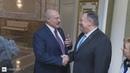 Президент Беларуси Александр Лукашенко встретился с Государственным секретарем США Майком Помпео