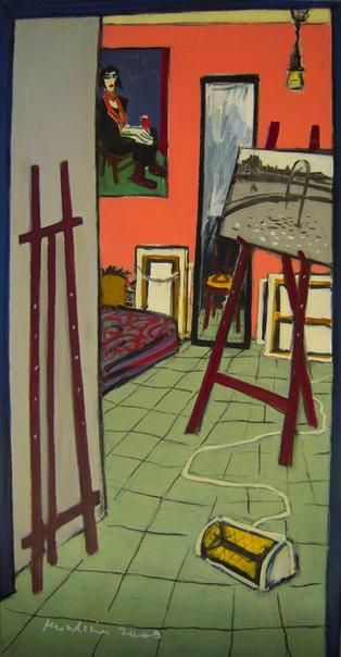 Ольга Кундина Родилась в России в 1965 г. В 10 лет попала в студию Юрия Злотникова. Окончила Московскую школу художественных ремесел по росписи подносов, потом Полиграфический институт.