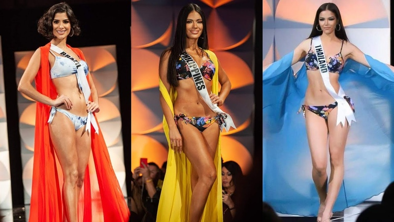 TOP 15 SWIMSUIT EARLY FAVOURITES PRELIMINARY MISS UNIVERSE 20191