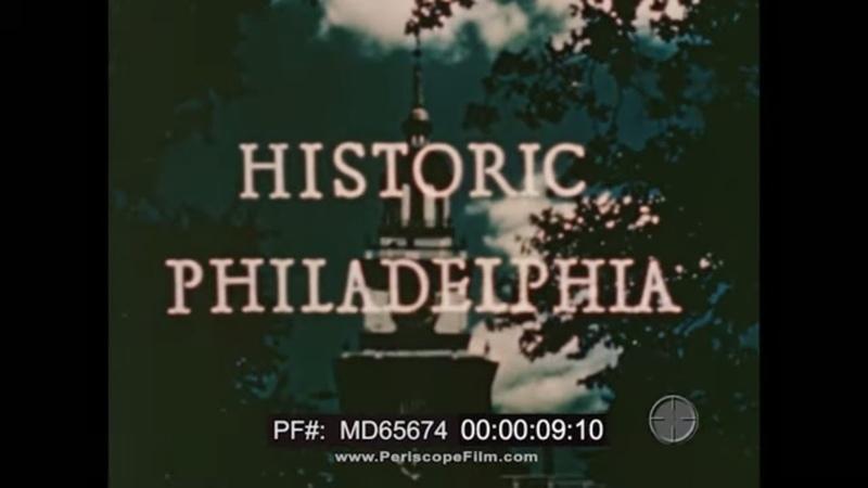 BREYERS ICE CREAM PRESENTS HISTORIC PHILADELPHIA 1940s PENNSYLVANIA TRAVELOGUE MD65674