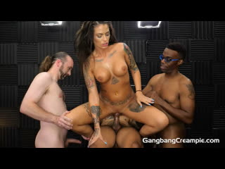 Trinity Blaze - GangBang Creampie 227 [Full HD 1080, Gangbang, Creampies, Blowjobs, Interracial, MILF, Tattoos]
