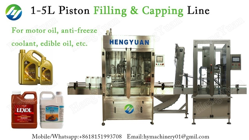Servo Motor Driving Piston Filling Single Head Capping MC for 0.8 to 5 Liter Lubricant Bottle Pack
