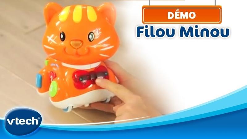 Filou Minou Un petit chat interactif qui incite Bébé à le suivre partout VTech