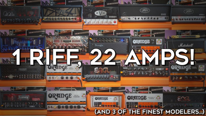 1 riff, 22 amps! (and 3 modelers...)