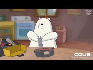 Hard ice bear
