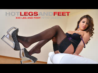 Ally breelsen [hd porn, brunette, foot fetish, feet, solo, russian, stockings, legs, natural tits, orgasm, brazzers]