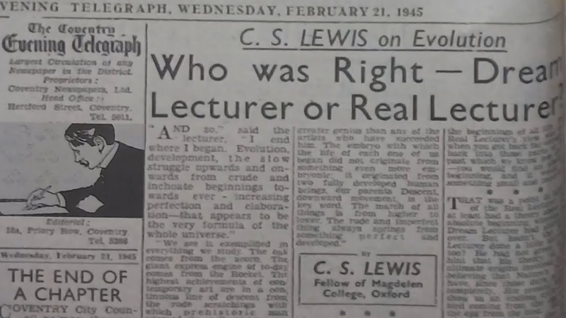 C S Lewis on Evolution Who was Right Dream Lecturer or Real Lecturer by C S Lewis Doodle