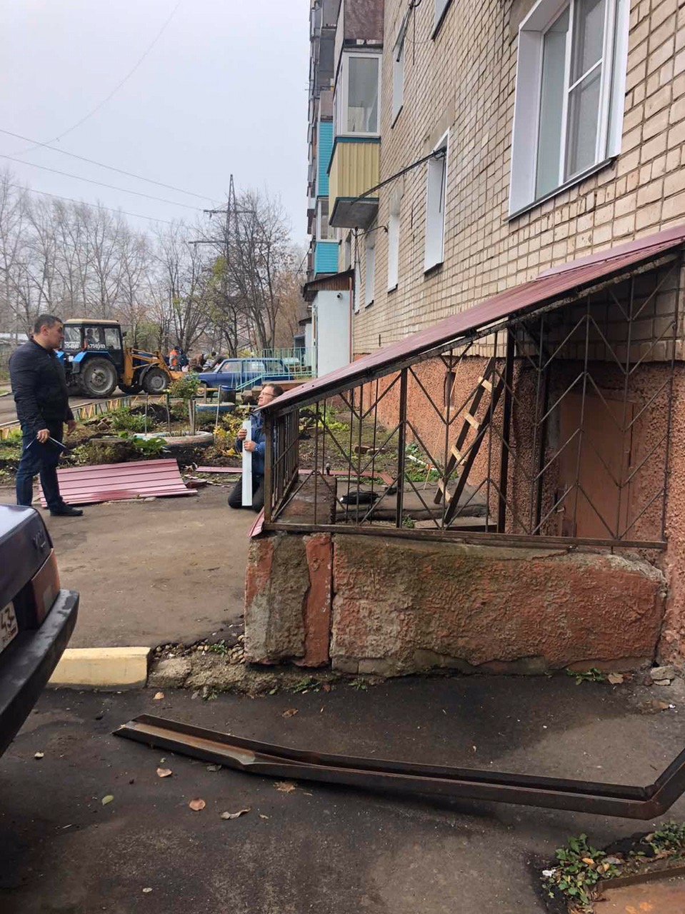 Улица Ердякова дом 14 ремонт входа в