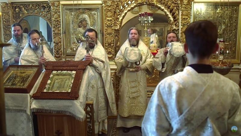 Божественная литургия в Лазареву субботу и день памяти прпп Марка и Ионы Псково Печерских