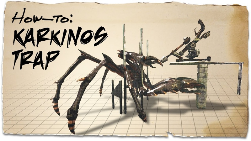 How to build a Karkinos Taming Trap (v3) | ARK Survival Evolved | Building Tips