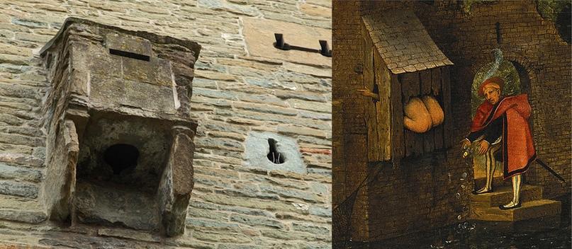 Средневековый сортир на замковой стене