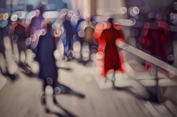 «Магистраль» Картина маслом с эффектом боке (расфокусировка)Художник: Philip Barlow